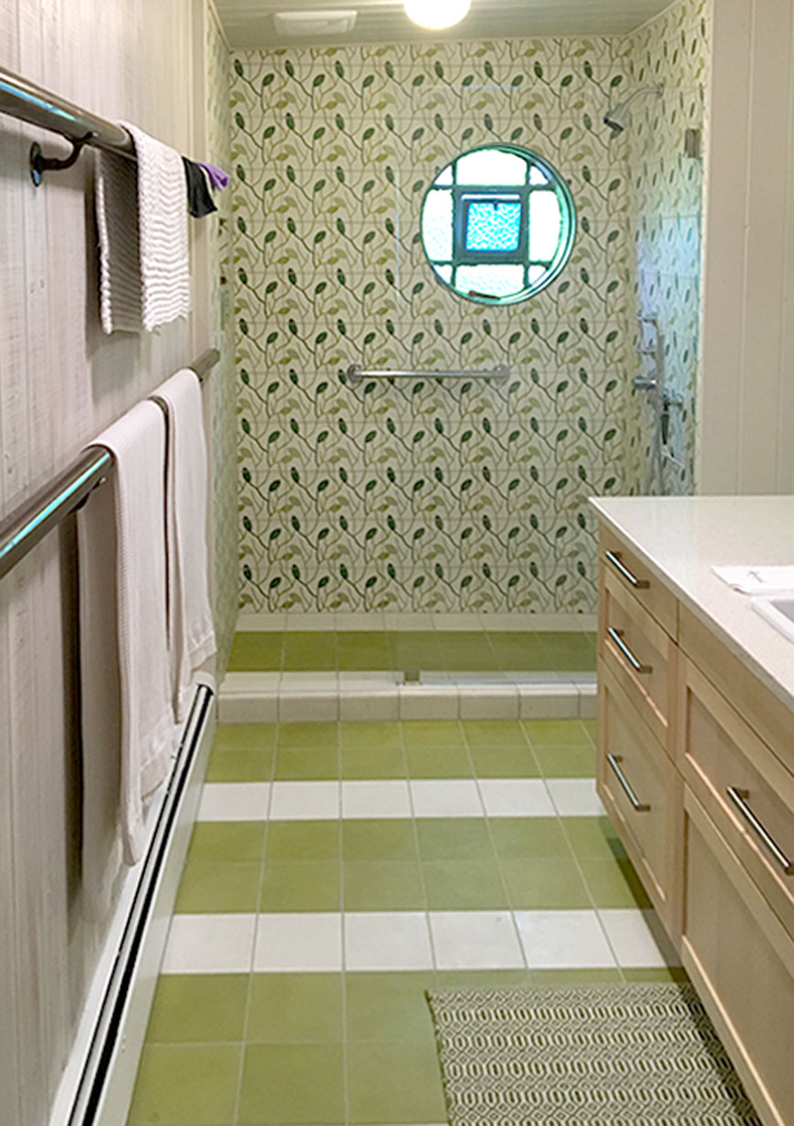 Mosaic House Moroccan tile Lawa C14-27-37-35 White Green Lime Green Mint, green  cement, encaustic, field, pattern playful floral