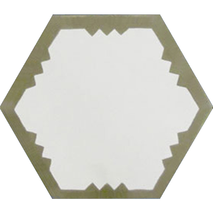 Mosaic House Moroccan tile Parisienne Art C14-34 White Aged Copper, gray  cement, encaustic, field, pattern