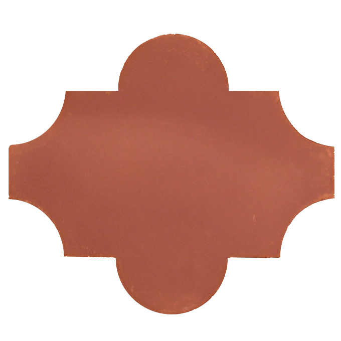 Mosaic House Moroccan tile Primula C10 Brick Red  solid cement, encaustic, field, pattern arabesques