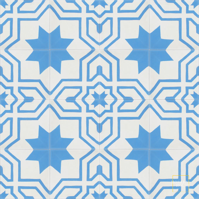 Salvia C14-11 - moroccan cement tile
