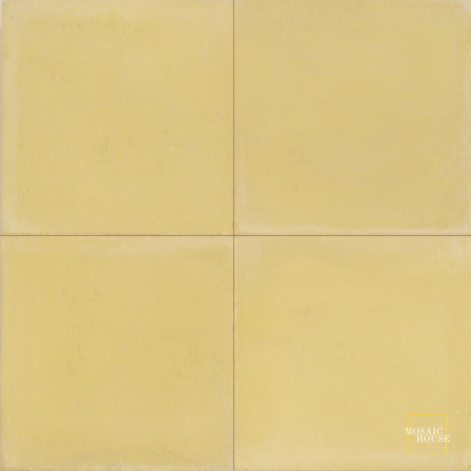 Mosaic House Moroccan tile C2 8x8 Yellow Yellow  solid cement, encaustic, loose, size
