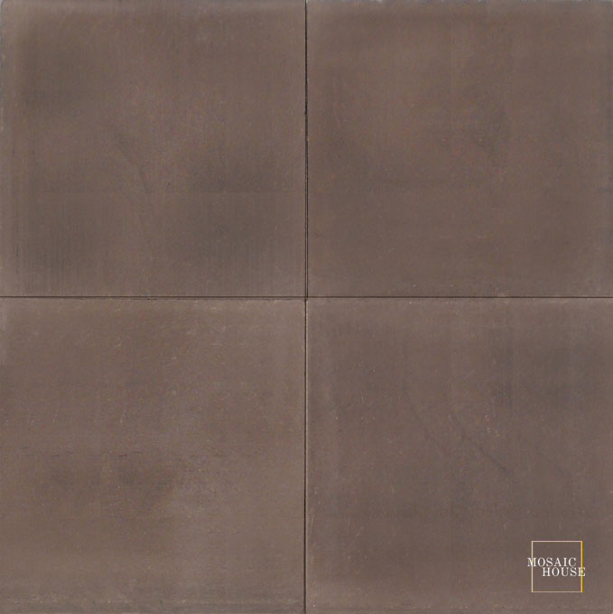Mosaic House Moroccan tile C5 8x8 Chocolate Chocolate, brown  solid cement, encaustic, loose, size