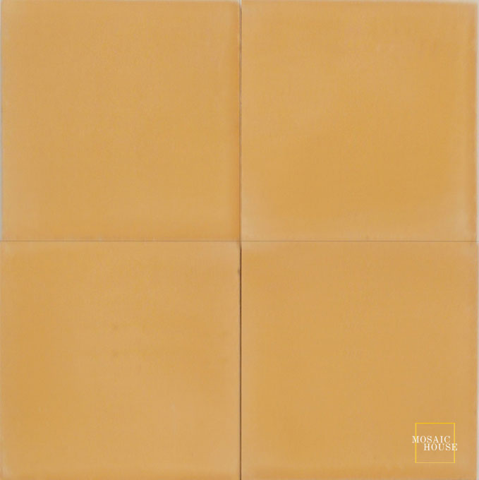 Mosaic House Moroccan tile C9 8x8 Burnt Ochre Burnt Ochre, orange  solid cement, encaustic, loose, size