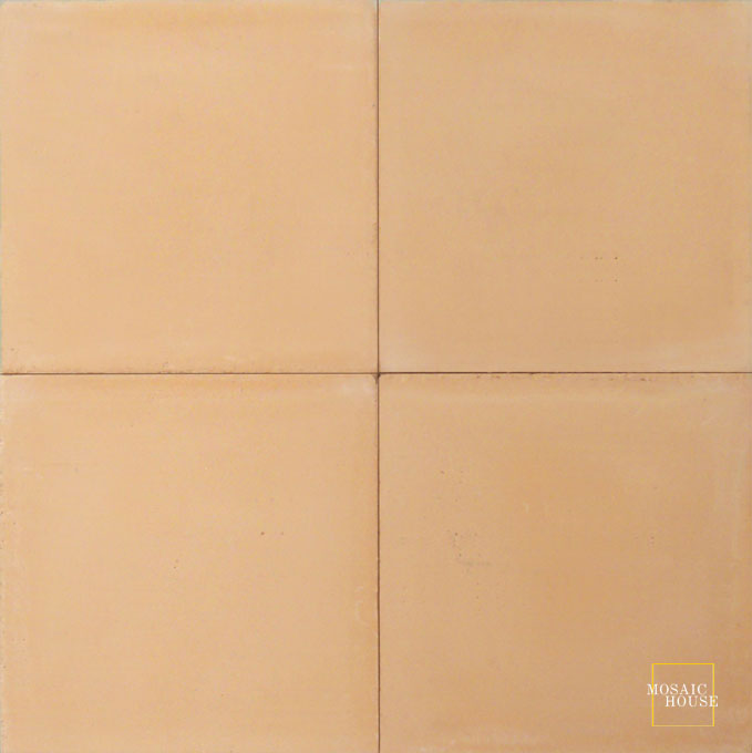 Mosaic House Moroccan tile C18 8x8 Peach Peach  solid cement, encaustic, loose, size