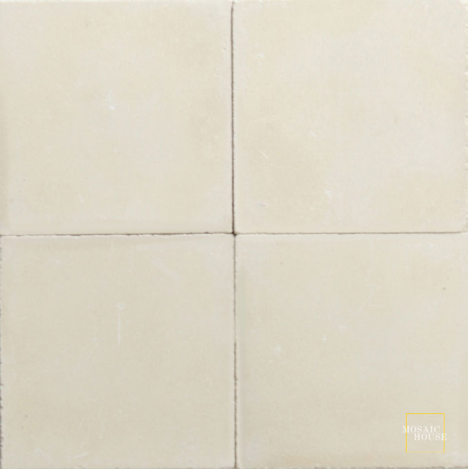Mosaic House Moroccan tile C31 8x8 Almond Almond, tan, beige  solid cement, encaustic, loose, size