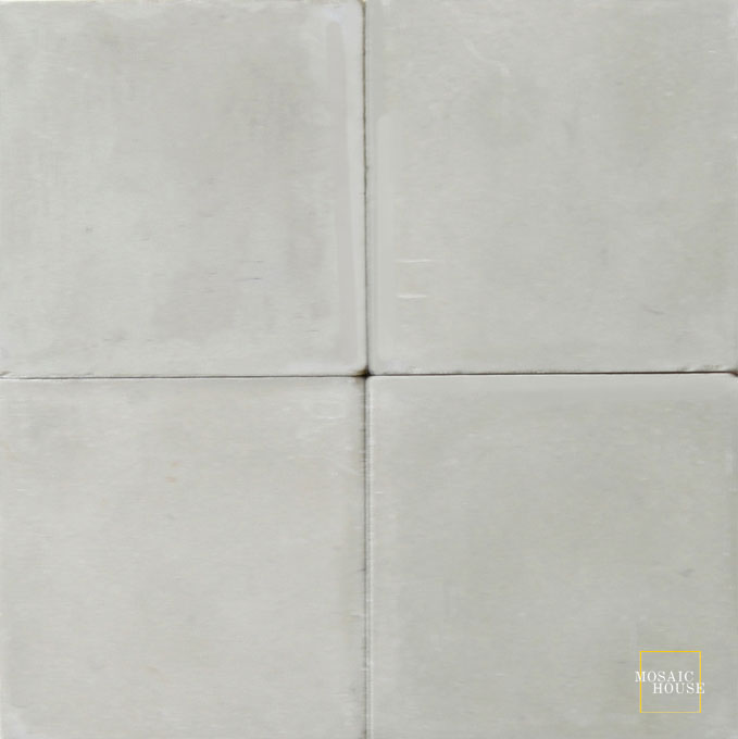 Mosaic House Moroccan tile C36 8x8 Ash Gray Ash Gray, gray  solid cement, encaustic, loose, size