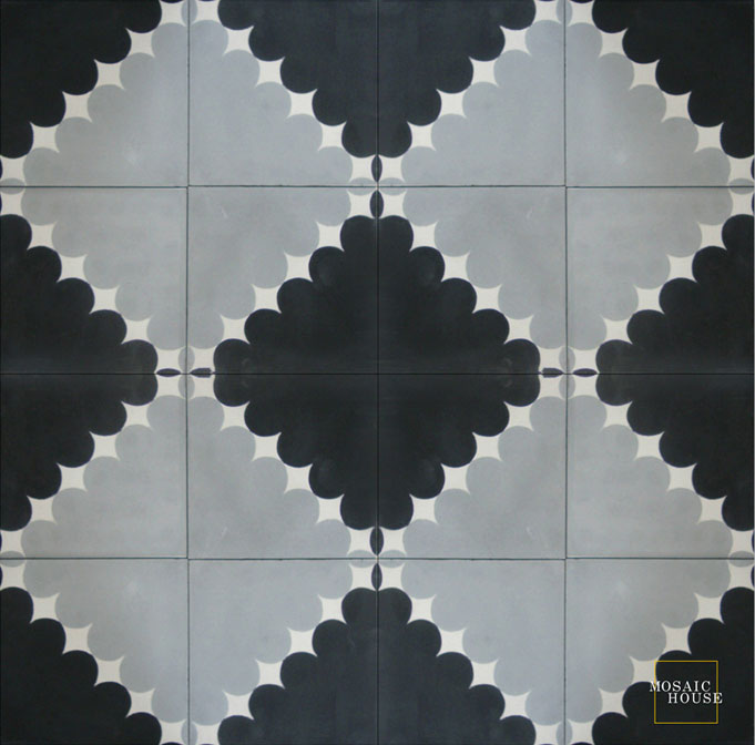 Wazo C4-24-14 - moroccan cement tile