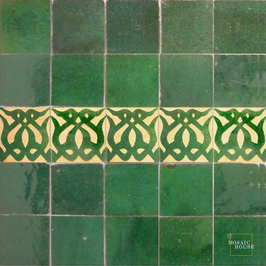 Mosaic House Moroccan tile Amelie 10 Chiseled 