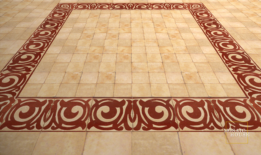 Mosaic House Moroccan tile Ceceile 7 Chiseled