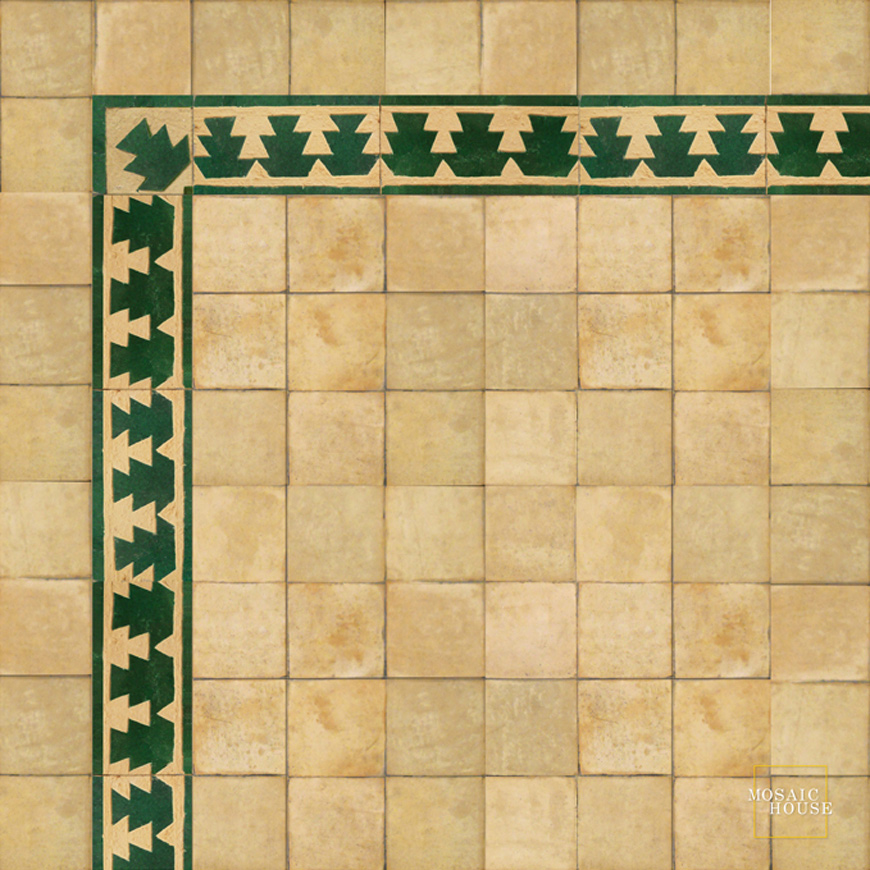 Mosaic House Moroccan tile Edith 10 Chiseled