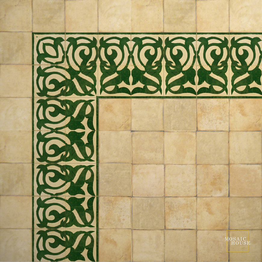 Mosaic House Moroccan tile Giselle 10 Chiseled