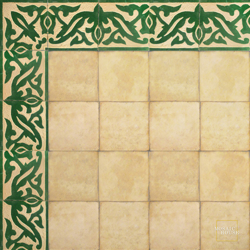 Mosaic House Moroccan tile Hakima 10 Chiseled