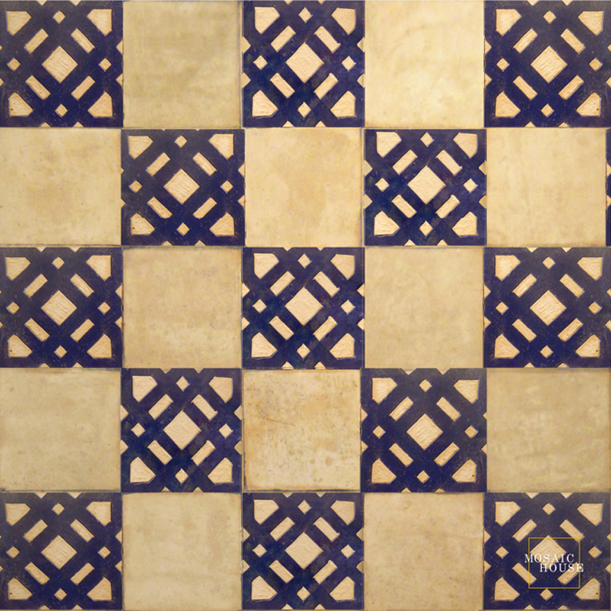 Mosaic House Moroccan tile Kenza 15 Chiseled