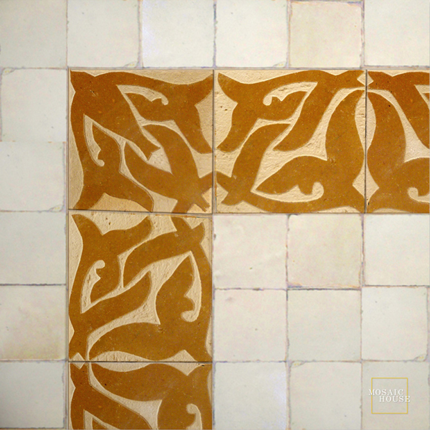 Mosaic House Moroccan tile Nicole 8 Chiseled