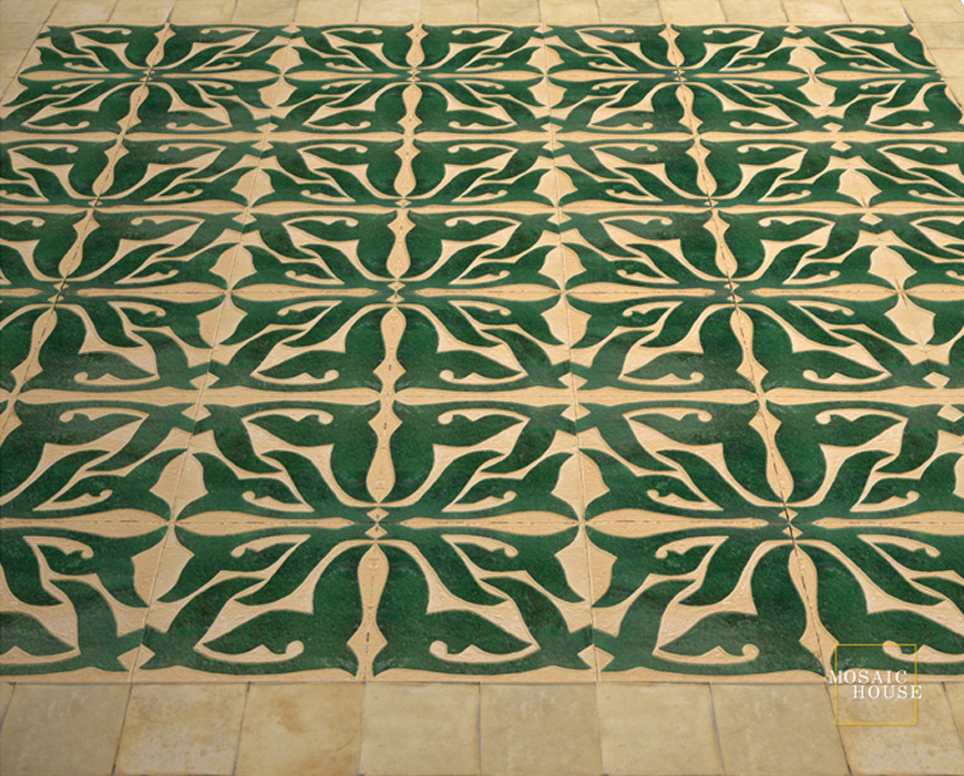 Mosaic House Moroccan tile Nicole 10 Chiseled