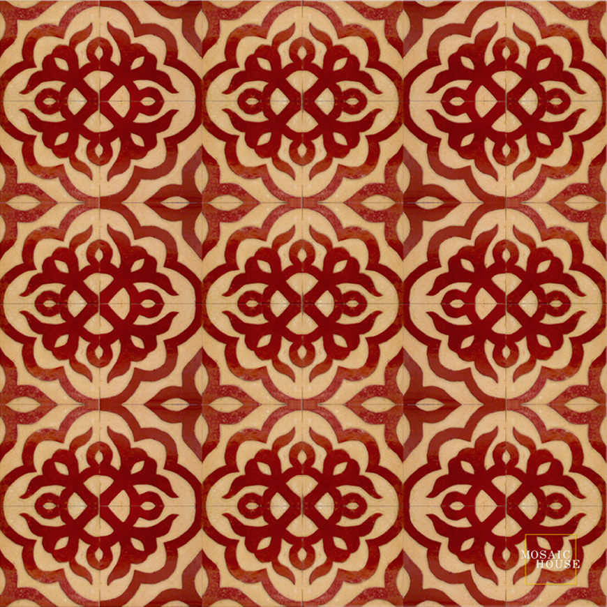 Mosaic House Moroccan tile Sophie 7 Chiseled