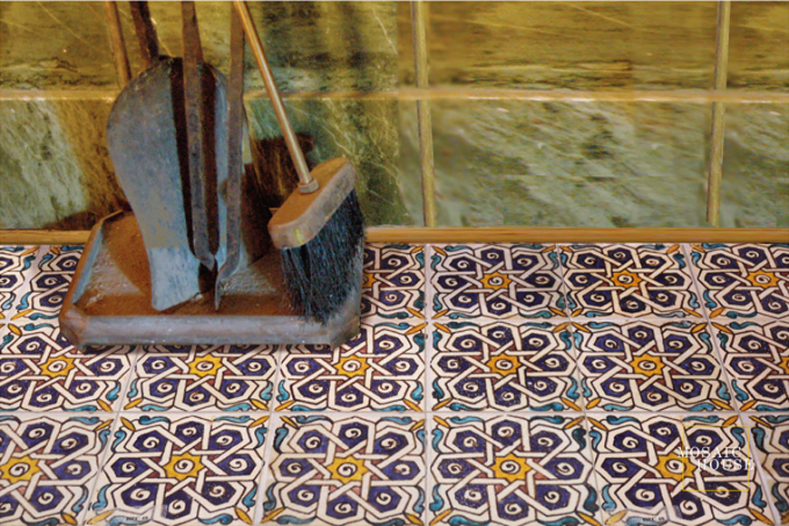 Mosaic House Moroccan tile Soiree Multi   solid hand painted
