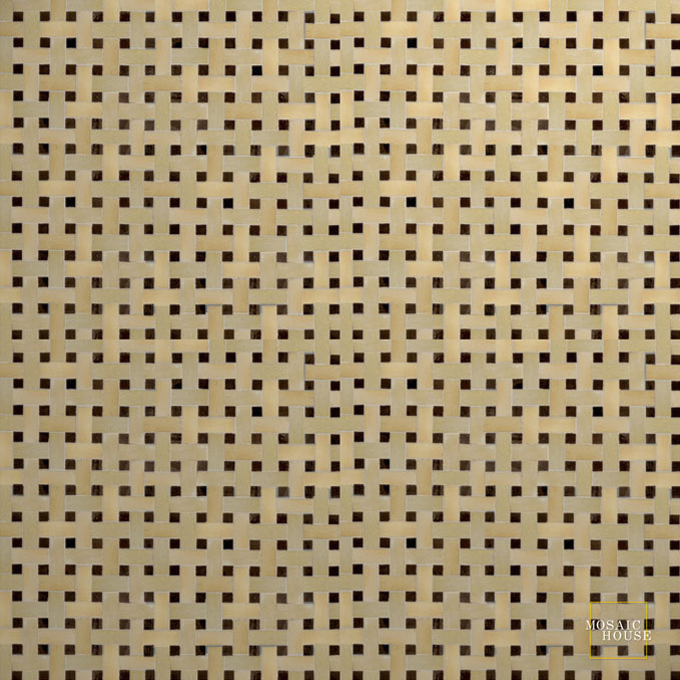 Mosaic House Moroccan tile Basketweave 11-6 Beige Black  zellige, mosaic, zellij, field, pattern, glaze, simple, classic