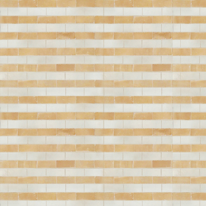 Mosaic House Moroccan tile Breeze 1-14 White Natural, Unglazed, Terracotta  zellige, mosaic, zellij, field, pattern, glaze