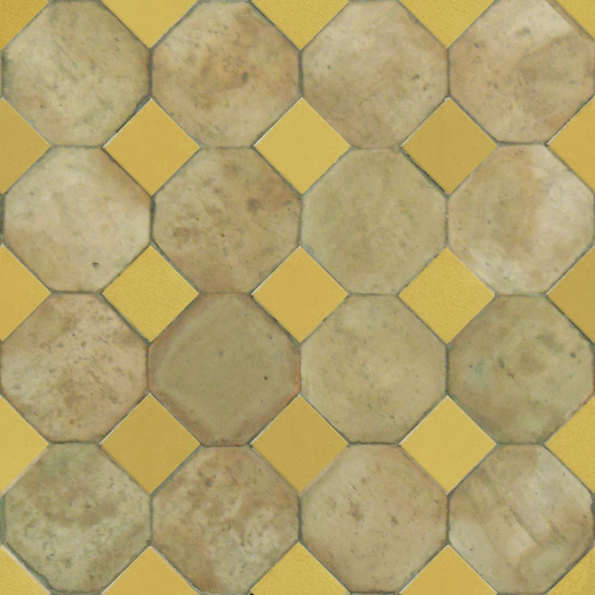 Mosaic House Moroccan tile Kora Oct Fes 14 Natural, Unglazed, Terracotta  solid zellige, mosaic, zellij, loose, size, glaze, octagonal, simple, classic