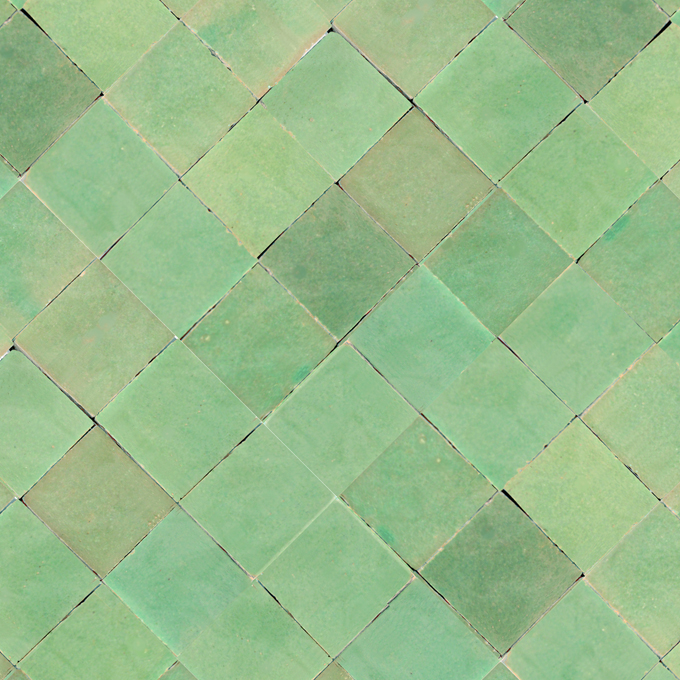 Mosaic House Moroccan tile MDV 2x2  solid zellige, mosaic, zellij, loose, size, glaze, squares, simple