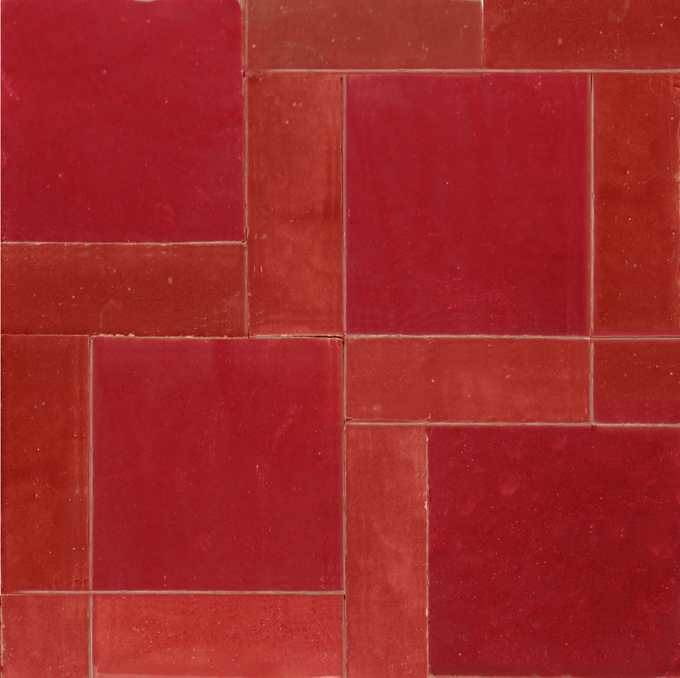 Mosaic House Moroccan tile MKB 6x6  solid zellige, mosaic, zellij, loose, size, glaze, squares, simple
