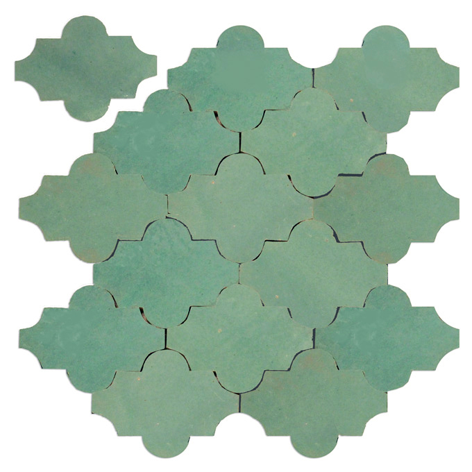 Mosaic House Moroccan tile Tribeca L 4x5  solid zellige, mosaic, zellij, loose, size, glaze