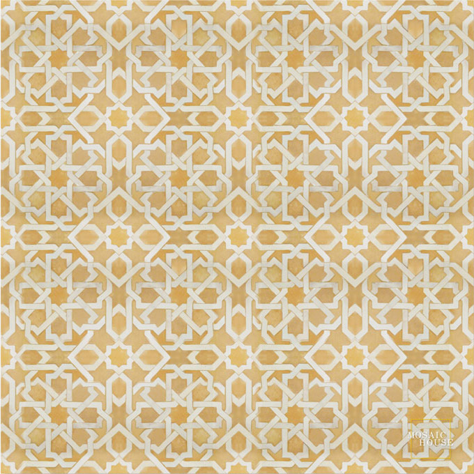 Mosaic House Moroccan tile Metam LG 1-14 White Natural, Unglazed, Terracotta  zellige, mosaic, zellij, field, pattern, glaze