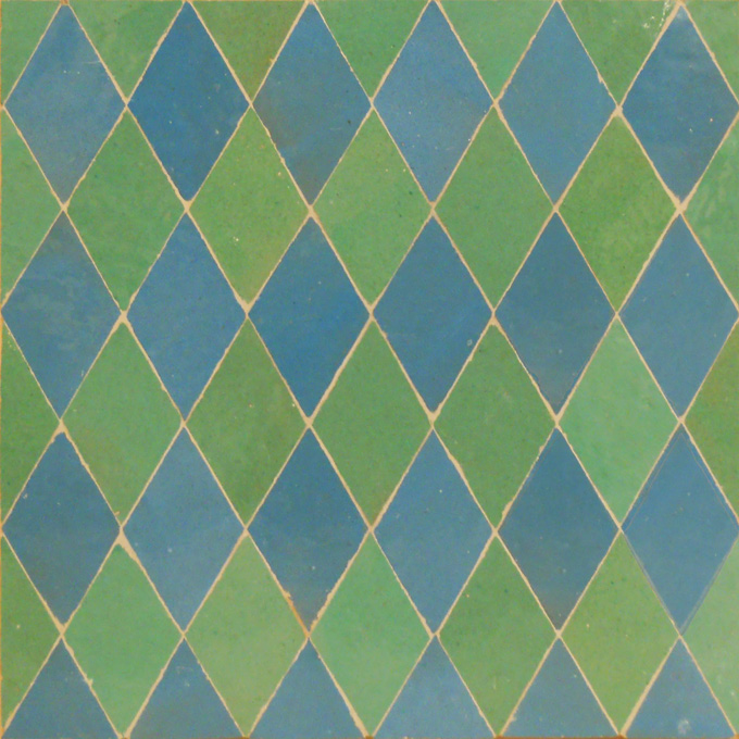 Mosaic House Moroccan tile NZaq 23-12 Turquoise Light Green  zellige, mosaic, zellij, field, pattern, glaze, simple