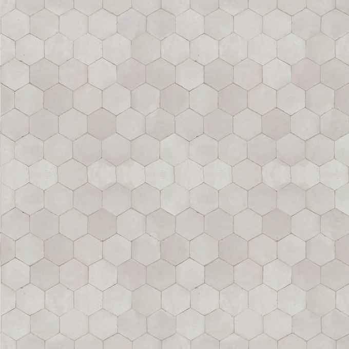 Mosaic House Moroccan tile Sata B 1 White  solid