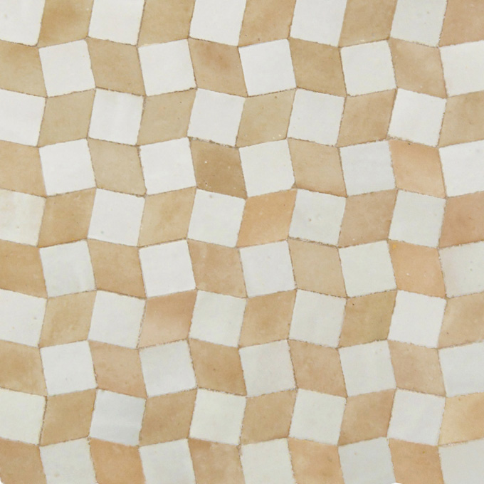 Mosaic House Moroccan tile Zak 1-14 White Natural, Unglazed, Terracotta  zellige, mosaic, zellij, field, pattern, glaze, playful, simple