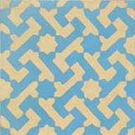 Mosaic House Moroccan tile Autumn Joy C11-2 Blue Yellow  cement, encaustic, field, pattern star